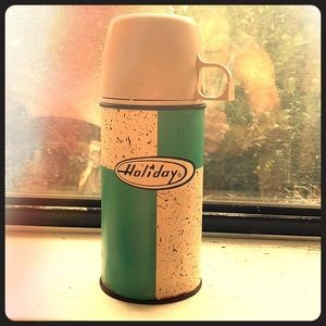 Vintage thermos rare atomic pattern